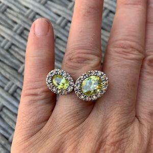 Statement ring 925 SS/Swarovski stones - size 7